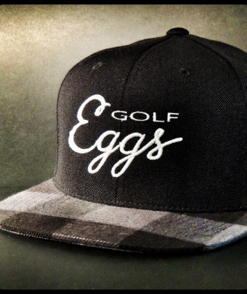 Eggs Black Square Flat Cap