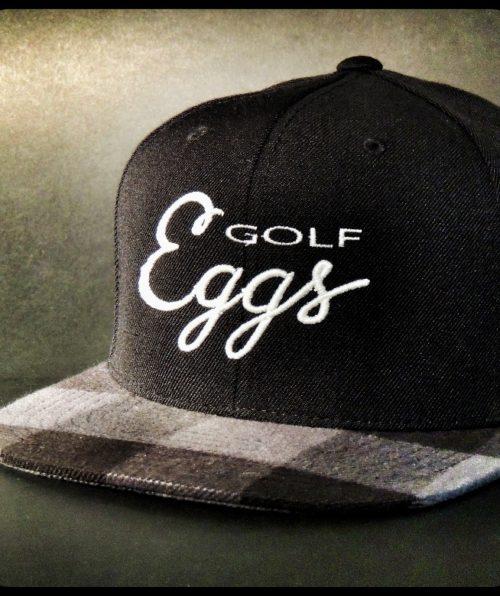 Eggs Black Square Flat Cap